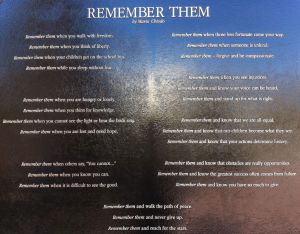 "Mario Chiodo's poem ""Remember Them"""