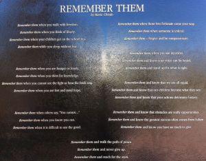 "Mario Chiodo's poem ""Remember Them"""