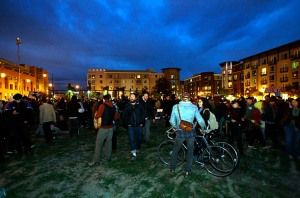 Occupy folks taking over vacant lot