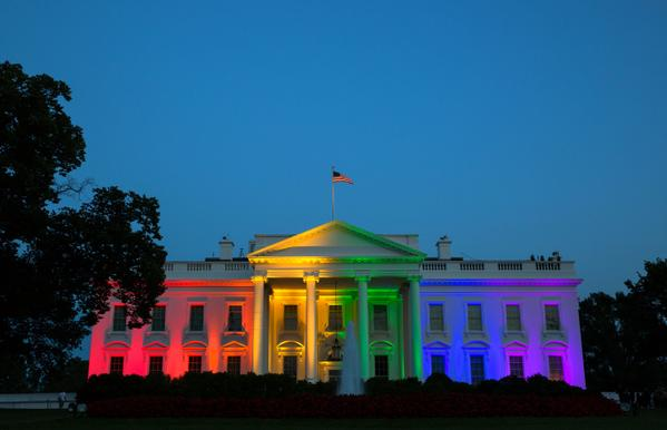 White house rainbow2